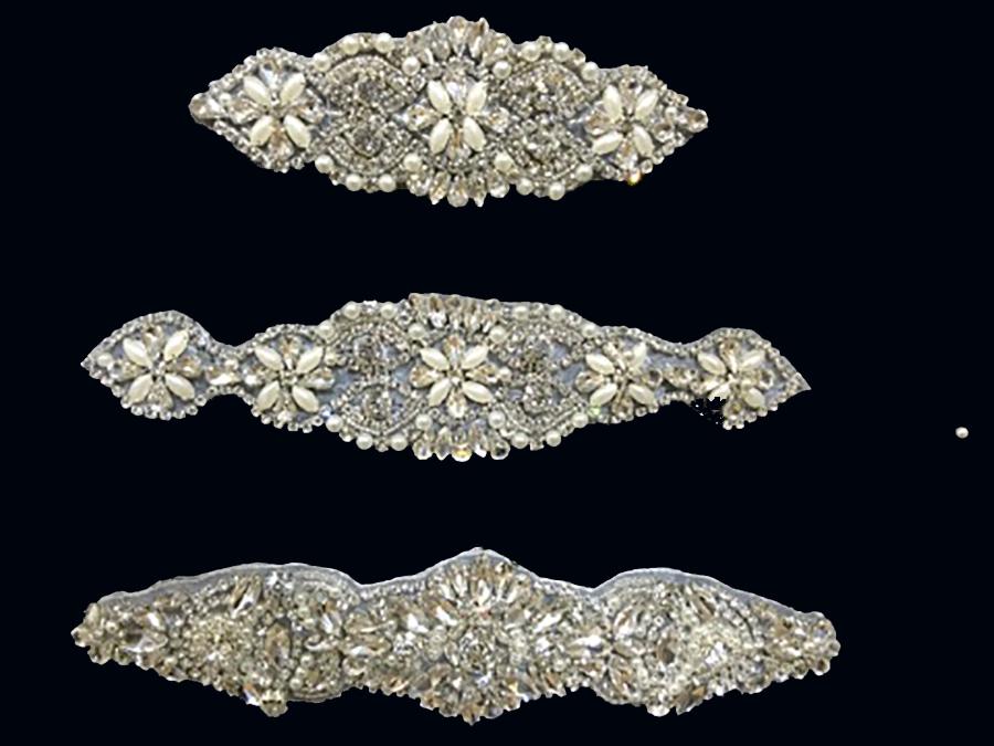 Silver Wedding Rhinestone Appliques